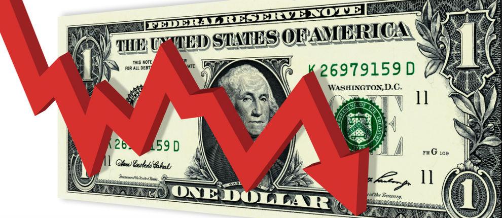 dolar em queda